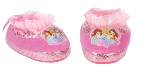 [Disney Toddler Girl's Slipper Princesses - Pink ~ Sm. 5/6] (Tiana Costume For Infant)