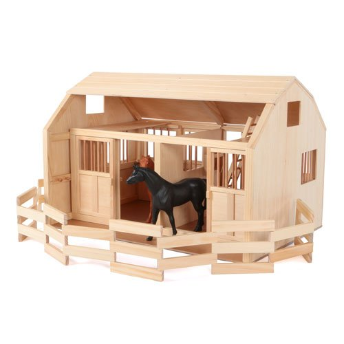 Maxim Enterprise, Grand Horse Stable Corral Fence. Deluxe Wooden Barn Playset and Paddock