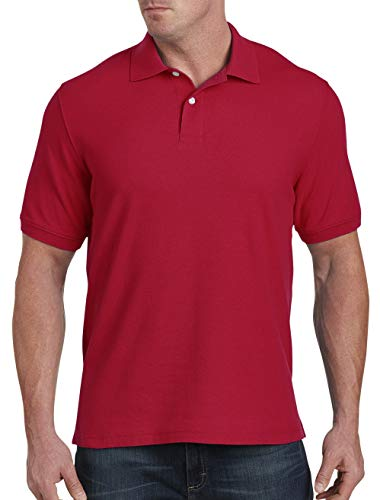 (Harbor Bay by DXL Big and Tall Pique Polo, Red XL)
