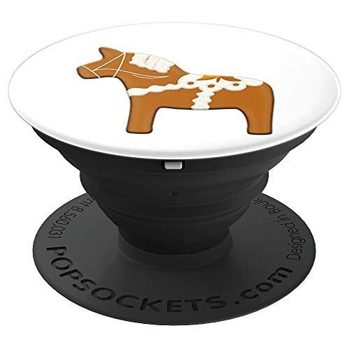 (Swedish Dala Horse Pepparkakor Christmas Cookie Gingerbread PopSockets Grip and Stand for Phones and Tablets)