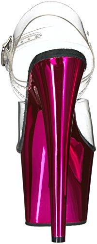 Women's Clr H Chrome Gold Clr Chrome Sandal Pink Pleaser Adore 708 O6dqw1