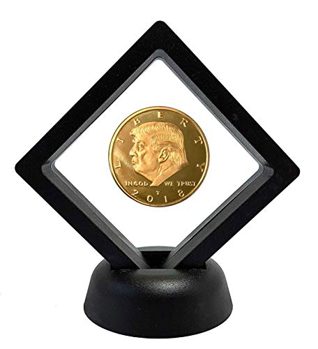 Donald Trump Gold Commemorative Coin 2018 with Display Case, Gold Plated Collectible Coin of 45th President of The United States
