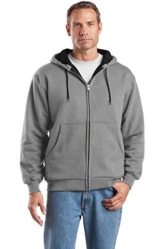 CornerStone - Heavyweight Full Zip Hooded Sweatshirt with Thermal Lining. CS620,Large,Athletic ()
