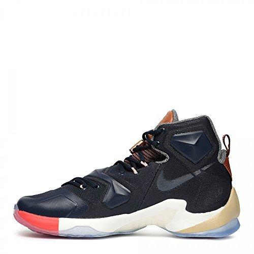 Nike Mens Lebron XIII Basketball Shoe, Multi-Color/Obsidian-Sail, Size 12