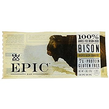 (Epic, Bar, Bison, Uncrd Bacn, Crby, Pack of 12, Size 1.3 OZ, (Dairy Free Gluten Free Wheat Free) )