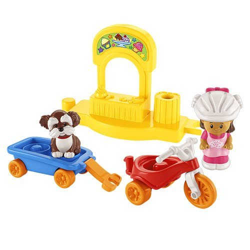 (Fisher-Price Little People Trike and Wagon Playset )
