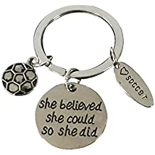 Soccer Keychain, Soccer Gifts, Soccer She Believed She Could So She Did Keychain, Soccer Zipper Pull, Proud Soccer Player or Soccer Team Gifts