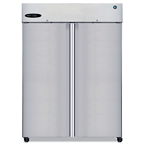 Hoshizaki CR2S-FS 55'' Commercial Series Reach-In Refrigerator with 50.5 cu. ft. Capacity 2 Sections 115 Volts 8 Gauge Stainless Steel Hinge Plate and 6 Adjustable Shelves: Stainless by Hoshizaki