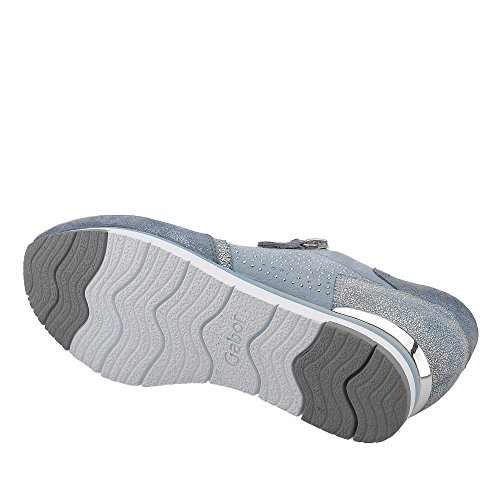Women's sneaker 38 38.5 39 40 aquamarine Gabor 64.322.10 Leather changing footbed BLAU CTfPjzJ5F