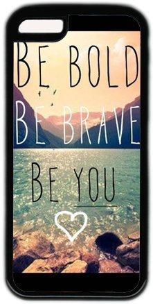 Be Bold Be Brave Be You citazione iPhone 5C Case PC Nero
