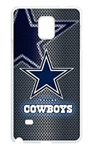 Hoomin Dallas Cowboys Mental Like Grey Samsung Galaxy Note4 Cell Phone Cases Cover Popular Gifts(Laster Technology)