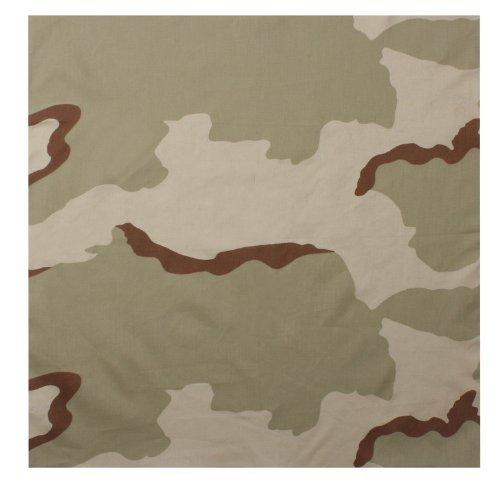 Rothco Bandana, Tri-Color Desert Camouflage, 27'' x 27''