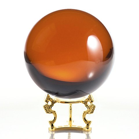 - Amlong Crystal Amber Crystal Ball 150mm (6 in.) Including Golden Dragon Stand and Gift Package