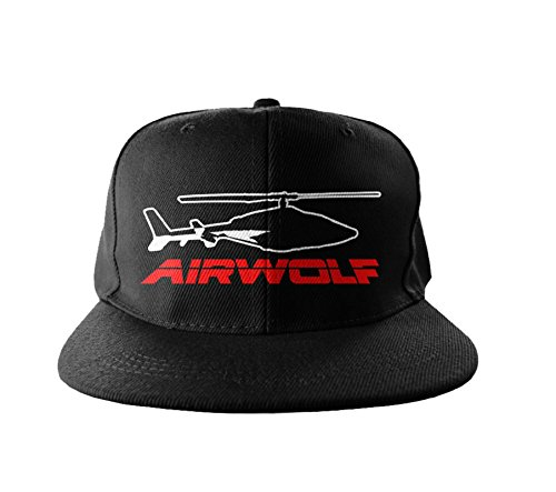 Embroidered Snapback Licensed Adjustable Cap Merchandise Airwolf black Size Officially tPAxwRq6pp