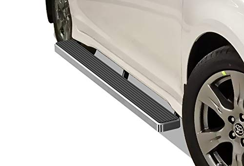 (APS iBoard Running Boards (Nerf Bars | Side Steps | Step Bars) for 2011-2019 Toyota Sienna | (Silver 5 inches))