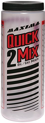 Maxima Racing Oils 10920 Quick-2-Mix Oil/Gas Ratio Mixing Bottle - 20 oz. Capacity by Maxima