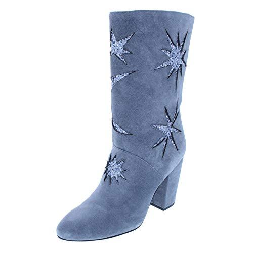 Avec Les Filles Nikita Women's Boots Grey/Gun Metal/Oiled Suede/Glitter Size 7.5 M