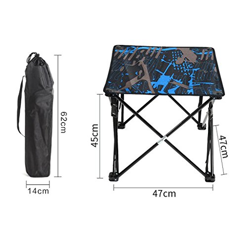 GFL Folding Table Outdoor Hardcore Portable Barbecue Stall Camping Folding Table Computer Tables (Color : D) by GFL