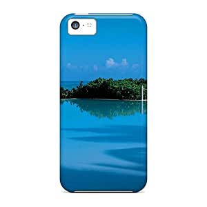 Awesome Blue Pool Against Blue Sky Flip Cases With Fashion Design For Iphone 5c
