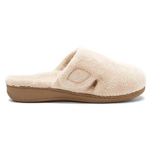 Orthaheel - Zapatillas de estar por casa para mujer marrón Tan Terry 4