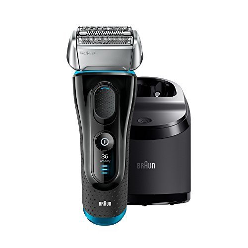 Braun Electric Razor for Men / Electric Shaver, Series 5 5190cc, Rechargeable with Clean & Charge Station (Best Braun Shaver For Sensitive Skin)
