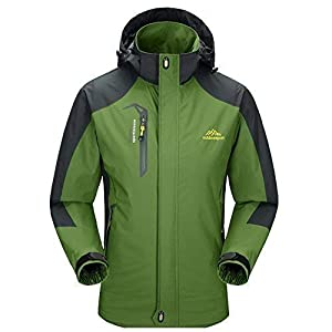 Diamond Candy Men Hooded Waterproof Jacket Lightweight Rain Jacket Outdoor Casual Sportswear