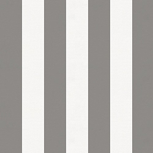 Carousel Designs White and Gray Stripe Fabric by The Yard - Organic 100% Cotton