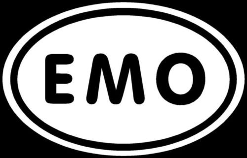 EMO Sticker Sad Depressed Crazy Blood Cut Funny Decal - Die cut vinyl decal for windows, cars, trucks, tool boxes, laptops, MacBook - virtually any hard, smooth (Emo Sticker)