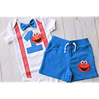 First Birthday Outfit Boy, First Birthday Elmo Outfit