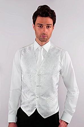 Gilet Costume Cérémonie Homme décor classieux blanc - Blanc - 3XL  Amazon.fr   Vêtements et accessoires 8950afcf109