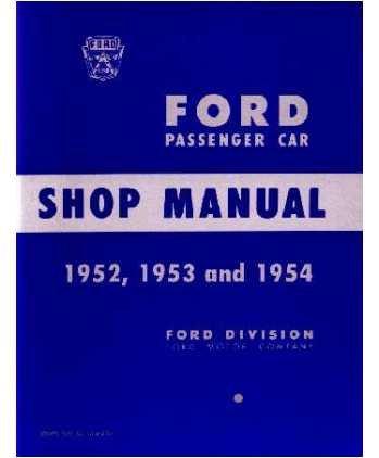 (1952 1953 1954 Ford Fairlane T-Bird Shop Service Repair Manual Book Engine )