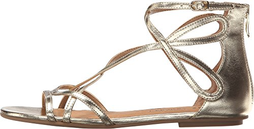 Laundry Dazzle Women's Gold Metallic Gladiator Penny Chinese Sandal dx1fwUdq