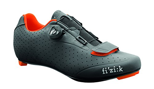 Fizik R5 UOMO BOA Road Cycling Shoes, Anthracite/Fluorescent Orange, Size 45.5  Anthracite/Fluorescent Orange