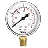 60mm 10BAR 150PSI Pressure Gauge air oil or water 1/4 BSPT Side Entry Manometer by plumbing4home