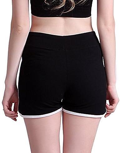 Womens Lightweight Low Waist Hot Pants Silhouette Horse Running Hot Pants