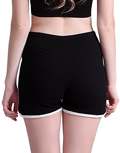 Women's Low Waist Shorts I Am Fine Casual Yoga Pants Elastic Beach Sgort Sexy Hot Summer Jogging Sports Shorts by MB32 (Image #3)