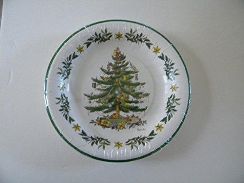 Spode Coated Paper Luncheon / Dessert Plates 8 Count