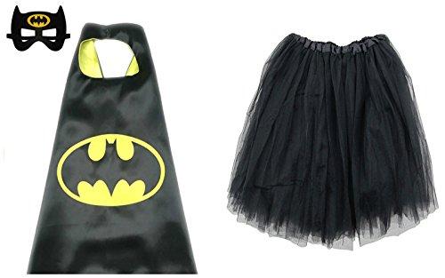 So Sydney Superhero TUTU, CAPE & MASK Adult Teen Plus Complete Halloween Costume (L (Adult Size), (Batman Women Costume)