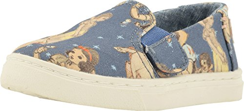 TOMS Kids Baby Girl's Luca Disney¿ Princesses (Infant/Toddler/Little Kid) Blue Snow White Printed Canvas 3 M US Infant M -