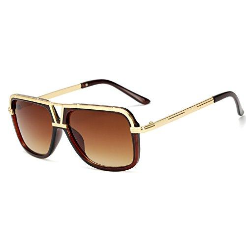 de Negro Gran Atrás de Hombres Sol de Macho Tamaño para Sunglasses Mach Las Sol KP18002 Hombres Gafas de uno Cuadrados Gafas KP18002 Sol de C1 TL Gafas C3 Brown Mujeres Mujer Mujeres los qtCax8w