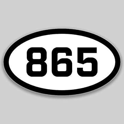 Amazon com: DHDM 865 Area Code Sticker Tennessee Knoxville