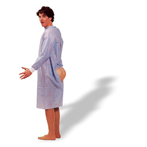 Hospital Costumes - Forum Novelties Mens Funny Hospital Gown Patient Hind Sight Butt Party Costume,
