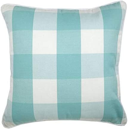 """18/"""" Country Check Plaid Gingham Stripe Blue Green Red Throw Pillow Cushion Cover"""