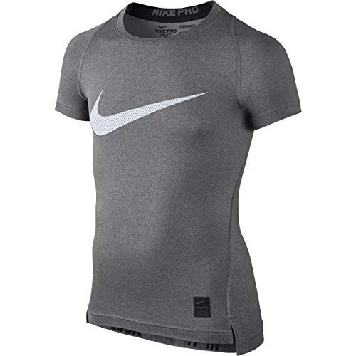 Nike Kids Boys Cool HBR Compression S/S Youth , Carbon Heath