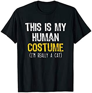 This Is My Human Costume Cat Halloween Funny T-shirt | Size S - 5XL