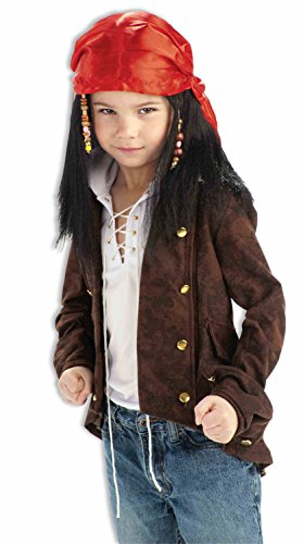 Forum South Seas Buccaneer Child Wig, (Maiden Of The Sea Pirate Hat)