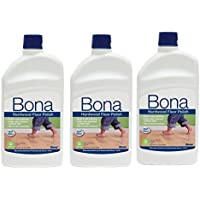 3 PACK Bona Hardwood Floor Polish - High Gloss, 32 oz.