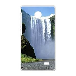 Grand Waterfall White Phone Case for Nokia Lumia X wangjiang maoyi by lolosakes