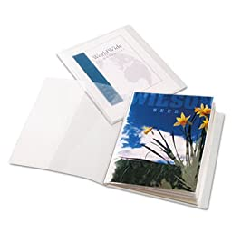 ClearThru ShowFile Presentation Book, 12 Letter-Size Sleeves, Clear