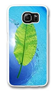 Blue Waters Green Leaf Custom Samsung Galaxy S6/Samsung S6 Case Cover Polycarbonate White